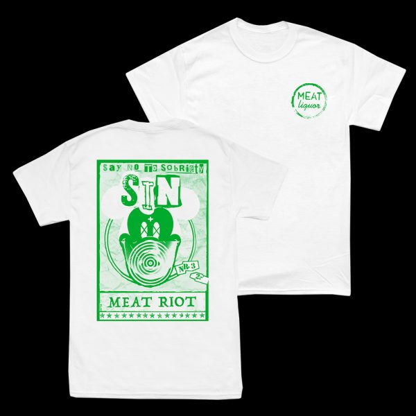 Sin Meat Riot T-Shirt (White)